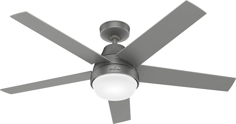 Hunter Fan Company 51315 Aerodyne Ceiling Fan, 52, Matte Silver