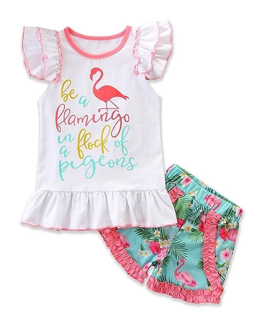 Amazon.com: Conjunto de camisetas con estampado de flamencos ...
