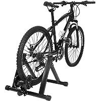 GOTOTOP Home Trainer Magnétique Réglable Entraîneur Turbo de Vélo Pliable pour Fitness/Vitesse/Exercice, Noir