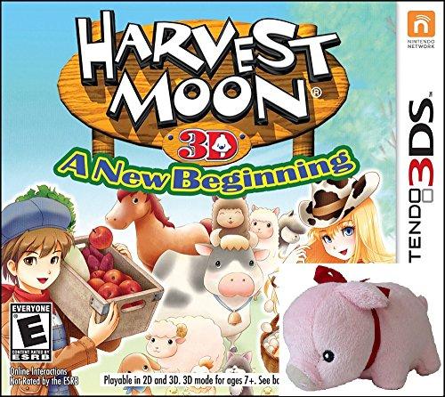 Harvest Moon a New Beginning 3DS with BONUS Plush Pig