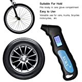Koky Digital Tire Pressure Gauges 100 PSI 4 Setting with Backlit LCD Display and Non-Slip Grip Tire Gauge for Cars and Motorcycles
