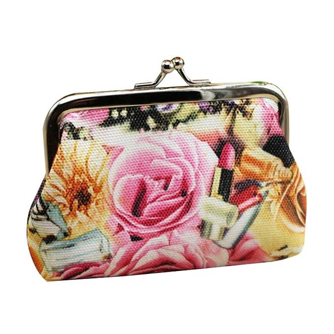 gaweb rosa lienzo con diseño de flores rosas tipo Cartera ...