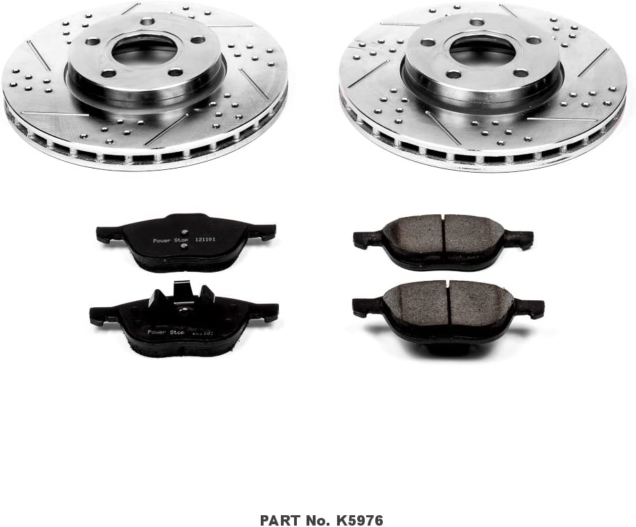 Power Stop K6968 Front Z23 Evolution Kit with Drilled//Slotted Rotors and Ceramic Brake Pads