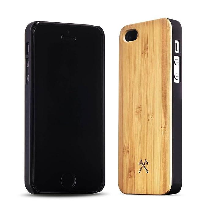 Woodcessories - EcoCase Classic - Premium Design Case, Cover, Hülle für das iPhone aus FSC zert. Holz (iPhone 5/ 5s/ SE, Bamb
