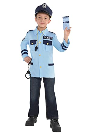 Oficial de policía kit niños de disfraces patrulla policía ...