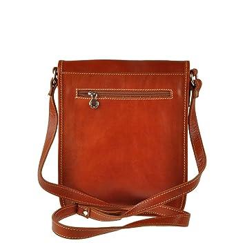 Pellevera Ravenne sac italienne messager de cuir. sac mortuaire croix (brun foncé) Mdr1H2ST