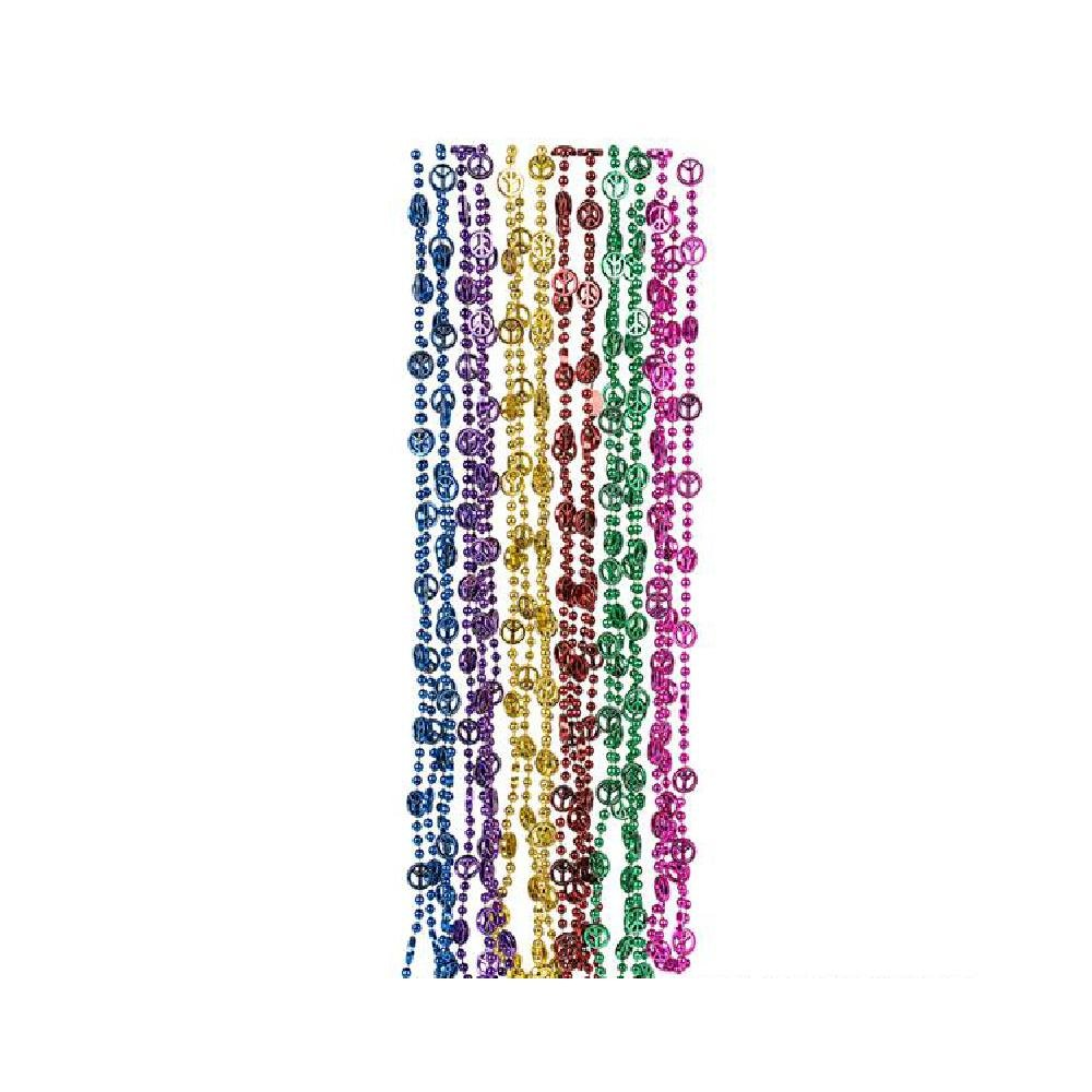 33'' Peace Sign Beads (With Sticky Notes)