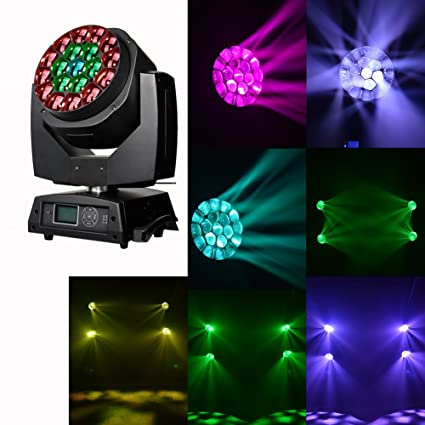 Wash Moving Head Lights 19x15w Rgbw 4in1 Led Stage Lights For Dj Strong Packing Lights & Lighting