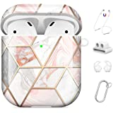 Maxjoy Compatible AirPods Case Cover, Cute Hard Case Protective Cover with Keychain/Strap/Earhooks/Watch Band Holder…