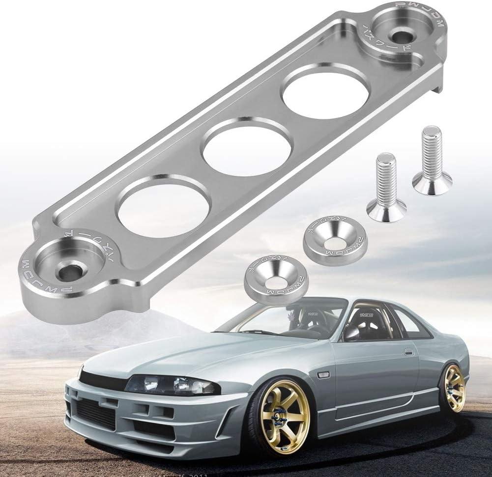 Senyar Aluminum Alloy Car Racing Battery Tie Down Hold Bracket Holder Lock Anodized for HONDA CIVIC//CRX 1988-2000 Silver