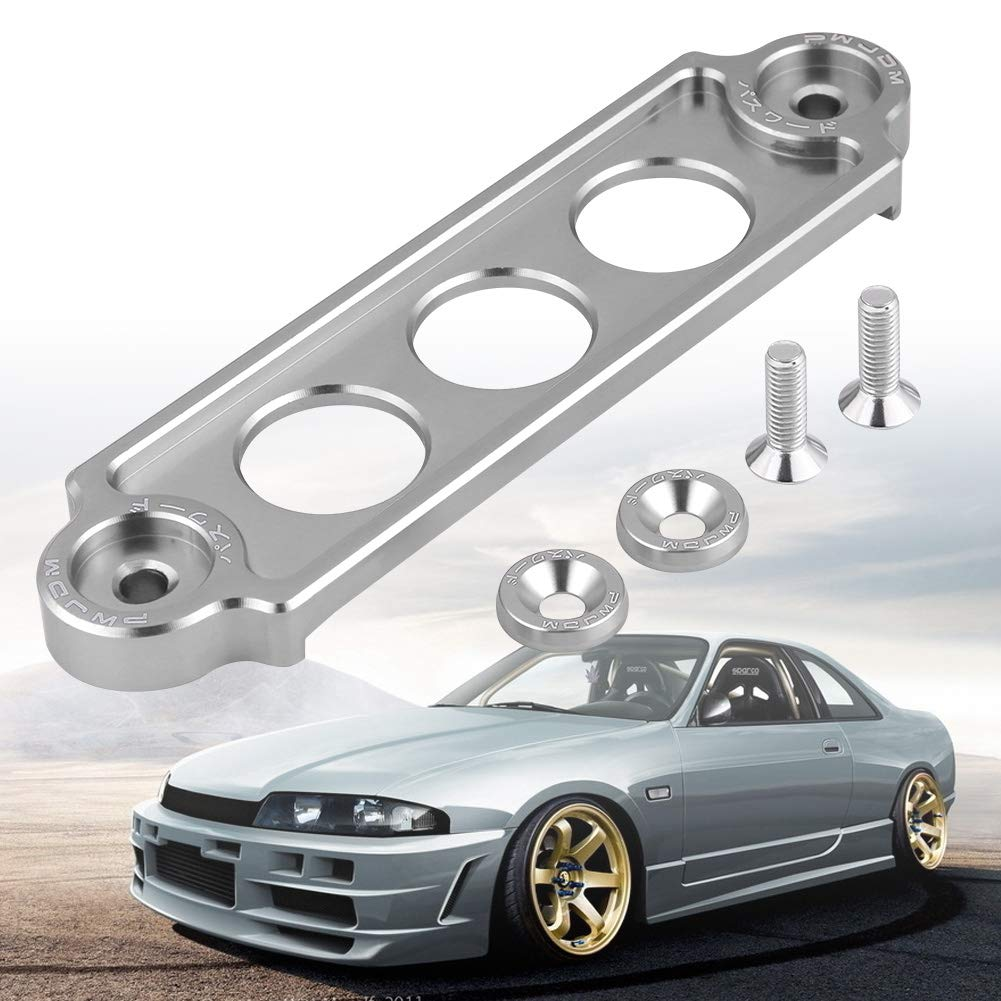 serrure de support de retenue de batterie de voiture de course automobile anodis/ée pour CIVIC//CRX 1988-2000 Support de fixation de batterie Silver