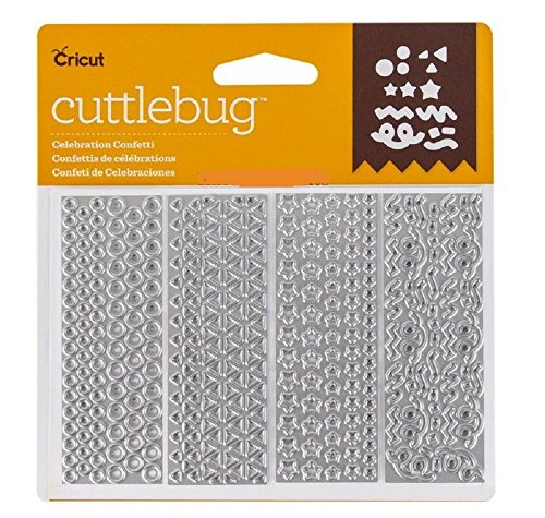 Cricut Cuttlebug Celebration Confetti 4 assorted Cut & Emboss Dies ()