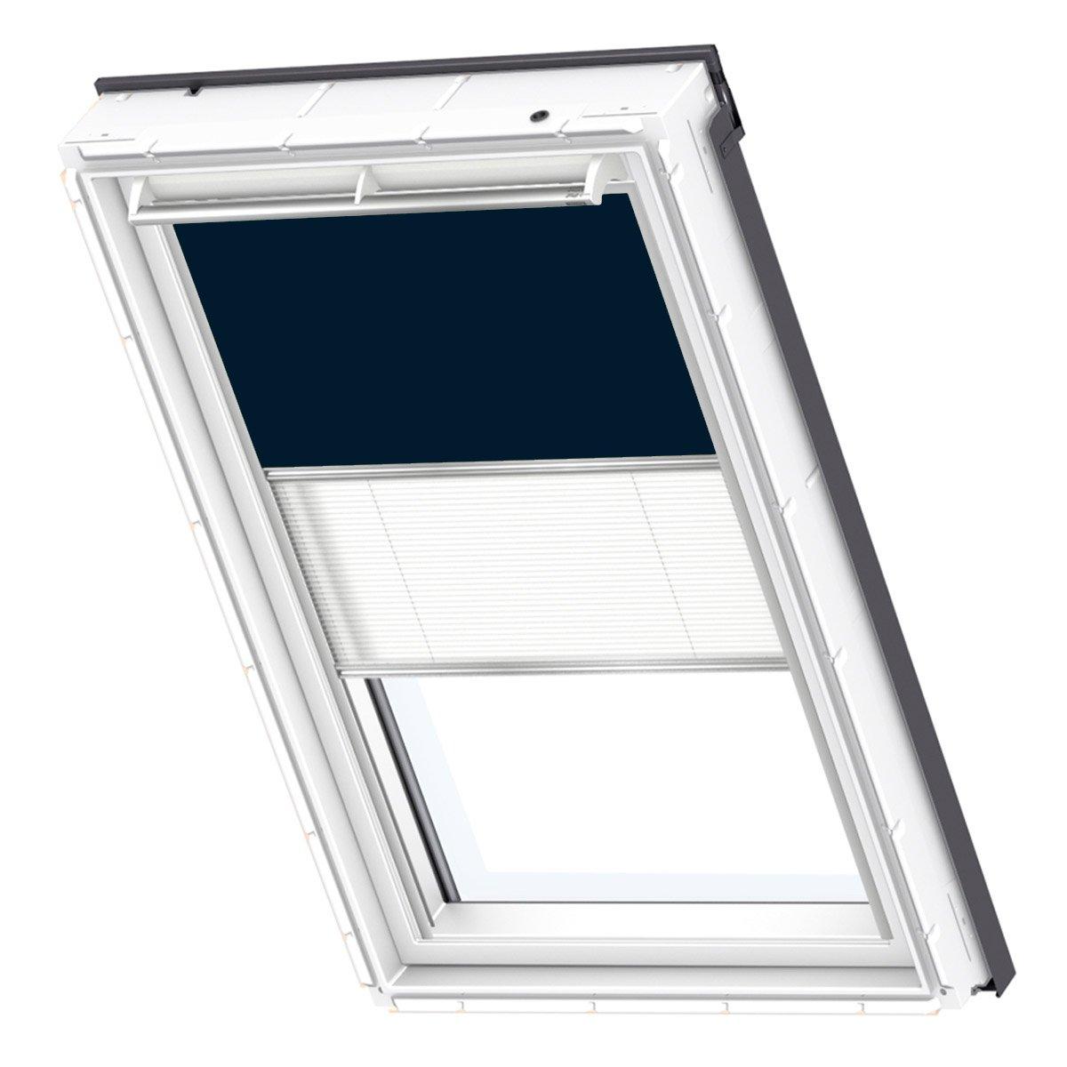 VELUX Original Verdunkelung Plus Dachfenster, S08, Uni Dunkelblau Weiß