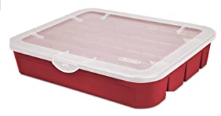 product image for Sterilite Red Holiday Ornament Adjustable Storage Container Organizer Case- Holds 32 Orrnaments