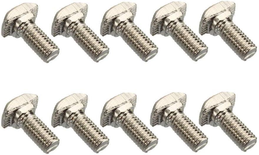 Fulok Easy 10Pcs M510 20 T-Bolt Carbon Steel European Standard Screws Accessory Replace Parts Screws