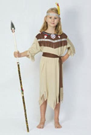 Partypackage Ltd Childrens Girls Indian Squaw Costume For Wild West Native Fancy Dress Height110  sc 1 st  Amazon.com & Amazon.com: Partypackage Ltd Childrens Girls Indian Squaw Costume ...