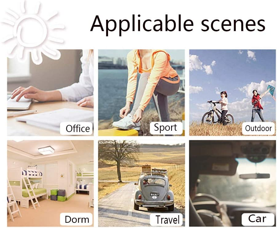 YANGYA Mini USB Desk Fan Handheld Portable Personal Rechargeable Fan for Home Office Camping Outdoor and Travel-Silver Gray