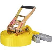 vidaXL Slackline 15mx50mm 150kg Yellow Balance Training Rope Exercise Fitness