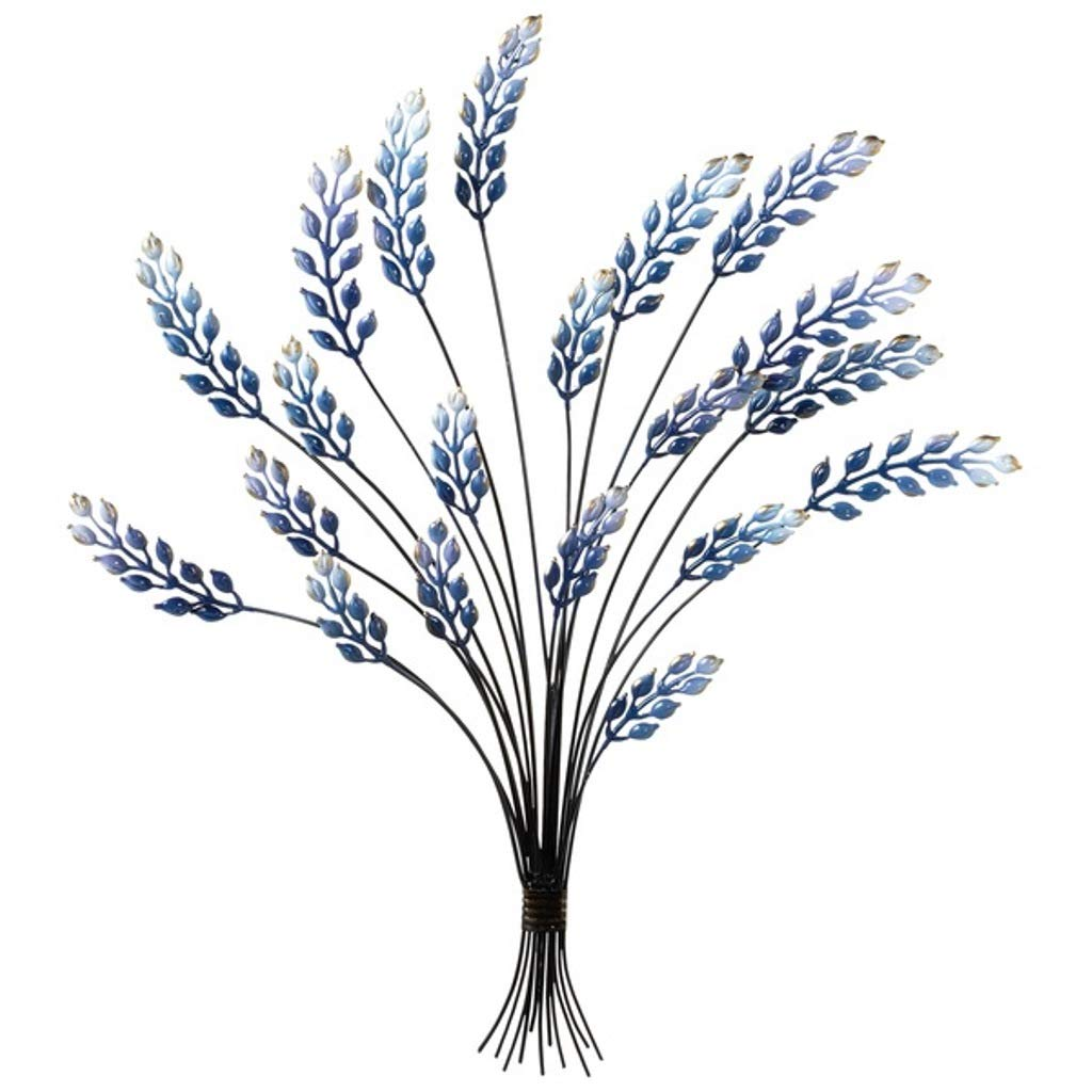MIDWEST-CBK Blue Enamel Bouquet Wall Decor