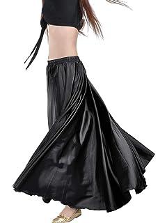8c2302ce89 Indian Trendy Women's Satin Full Circle Swing Halloween Belly Dance Tribal  Skirt