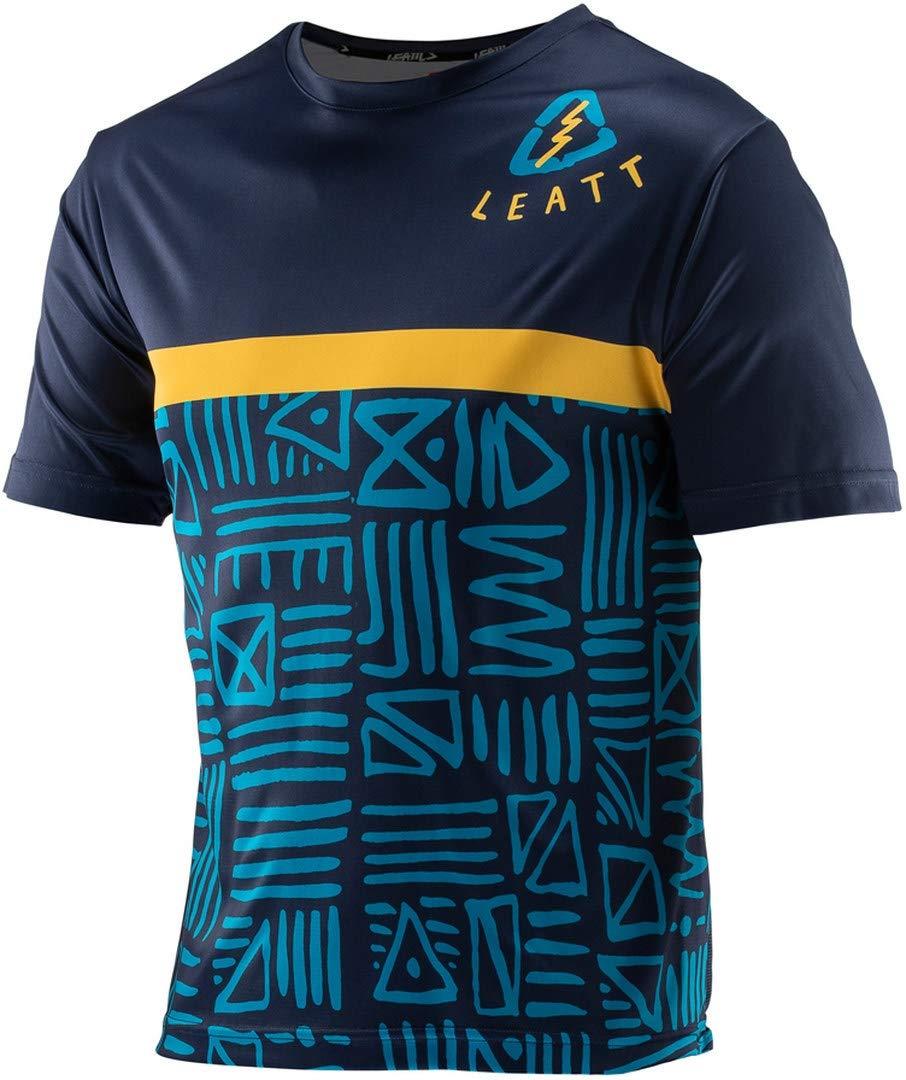 Cycling Jersey Size M Leatt Blue DBX 1.0 Jersey Short Sleeve