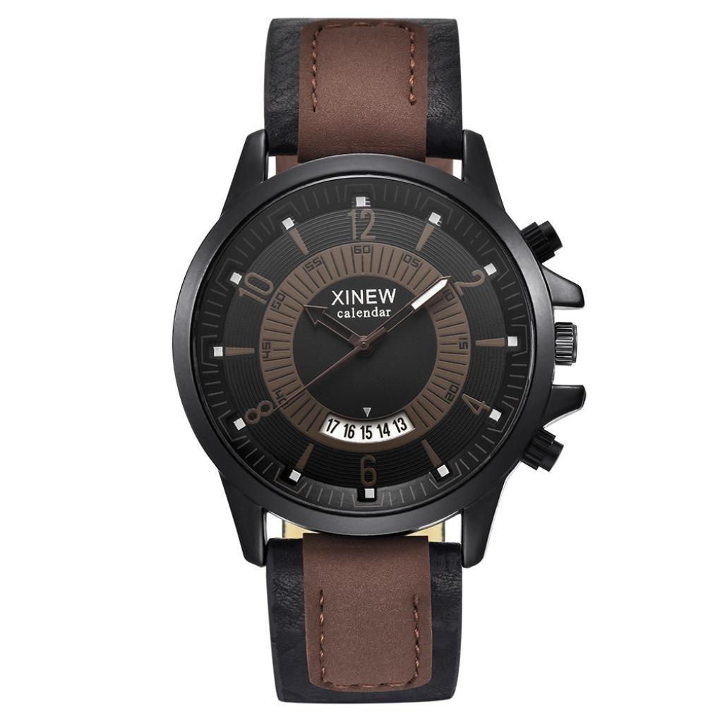2018 Moda de Cuarzo de la Vendimia Reloj de los Hombres Relojes de primeras Marcas de Lujo Masculino Reloj de Negocios para Hombre Reloj de Pulsera: ...