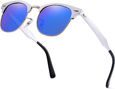 JIM HALO Polarizadas Aviador Gafas de Sol Retro de Metal