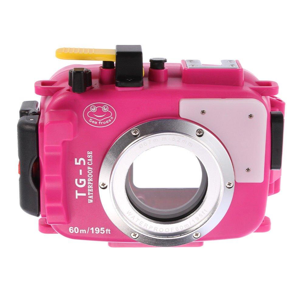 wenichen 60 M/195ft防水ハウジングダイビング水中カメラケースOlympus TG - 5 tg5 – ピンク   B07CQK7PP3