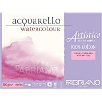 "Fabriano Artistico 140 lb. Hot Press 20 Sheet Block 12x18"" - Extra White"