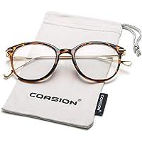 435715766e1 COASION Vintage Round Clear Glasses Non-Prescription Eyeglasses Frames for  Women Men