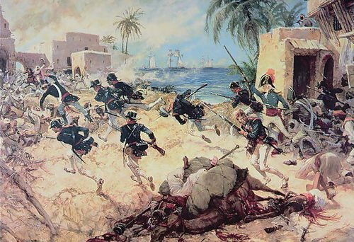 C.H. Waterhouse U.S. Marines Capture the Barbary pirate fortress at Derna, Tr...
