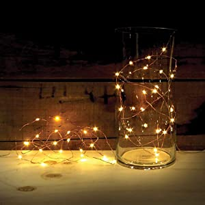 6 Pack Fairy Lights Battery Operated String Lights 3.3ft with 10 LEDs, Waterproof Flexible Silver-Plated Copper Wire Firefly Lights for Wedding Centerpieces Bedroom Mason Jars Party(Warm White)