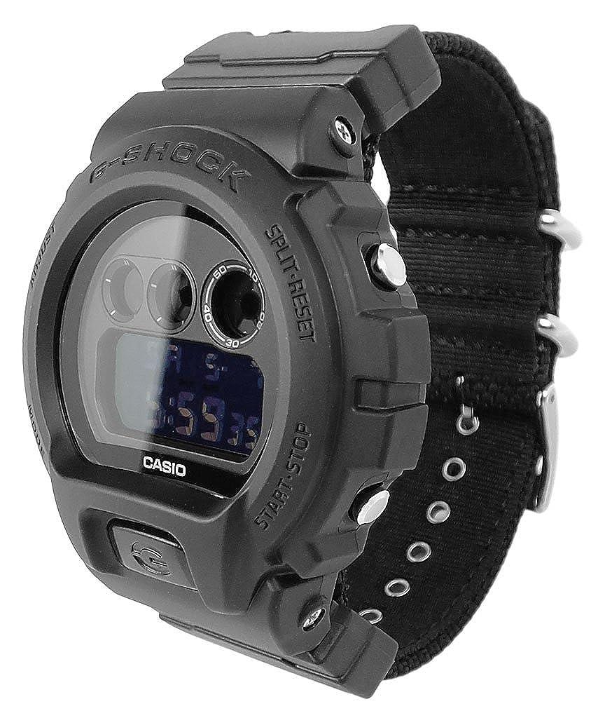 Casio Reloj Digital para Hombre de Cuarzo con Correa en Nailon DW-6900BBN-1ER: Amazon.es: Relojes