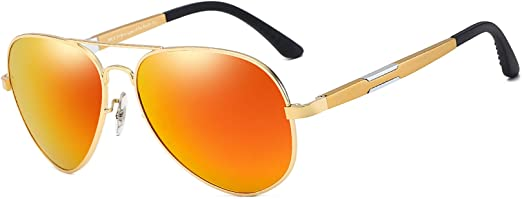 Polarized Sport Aviator Sunglasses Driving Fishing Anti Glare Lens Pilot Glasses