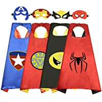 Toys for 3-10 Year Old Boys, Superhero Capes for Kids 3-10 Year Old Boy Gifts Boys Cartoon Dress up Costumes Party Supplies 4 Pack RKUSPF04, Medium (Smart-S3)