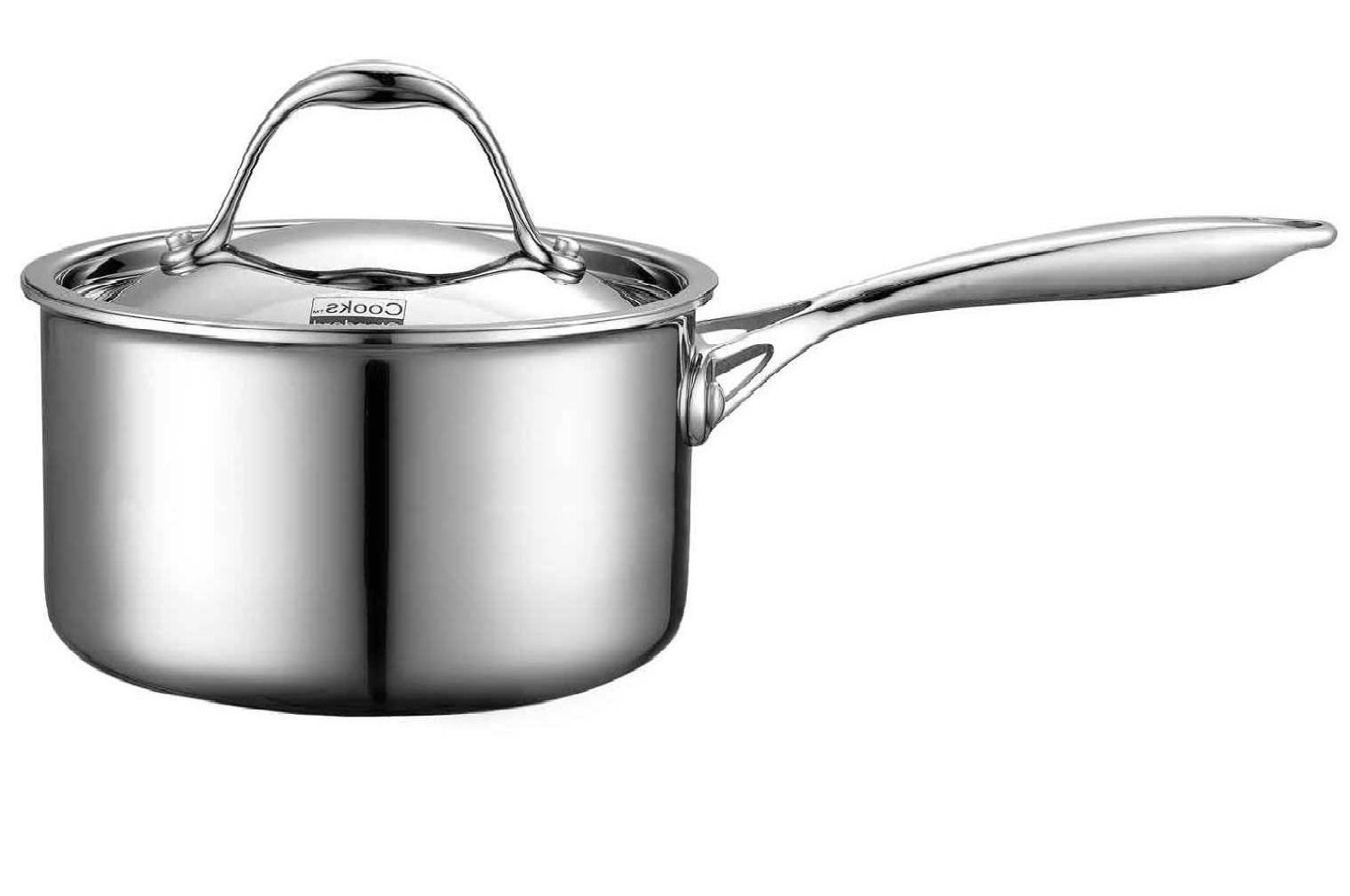 Cooks Standard NC-00217 Lid 1.5-Quart Multi-Ply Clad Stainless Steel Saucepan 1-1/2-Quart Silver