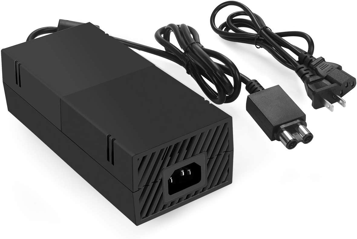 Xbox One Power Supply Brick with Power Cord,(Low Noise Version) AC Adapter Power Supply Charge for Xbox One Console, 100-240V Auto Voltage,Black