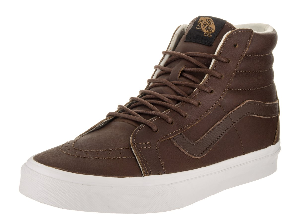 VANS MENS SK8 HI REISSUE LEATHER SHOES 13.5 B(M) US Women / 12 D(M) US Men|(Leather) Dachshund/Potting Soil