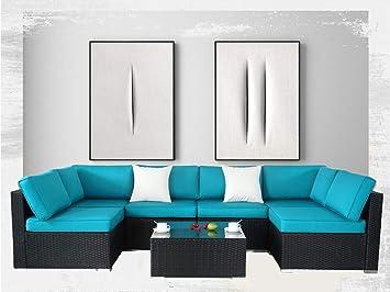 Cool Outdoor Black Rattan Wicker Sofa Set Garden Patio Furniture Inzonedesignstudio Interior Chair Design Inzonedesignstudiocom