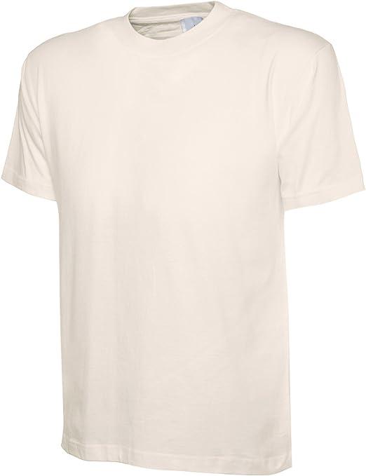 M-XL 100/% coton pour homme T-shirt uni à manches courtes Col Rond Ou Col V