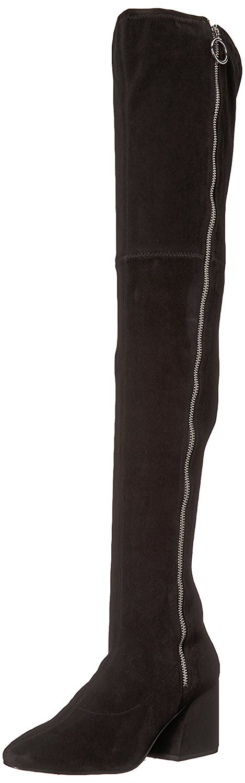 Dolce Vita Women's VIX Fashion Boot, Black Stella Suede, 9 Medium US