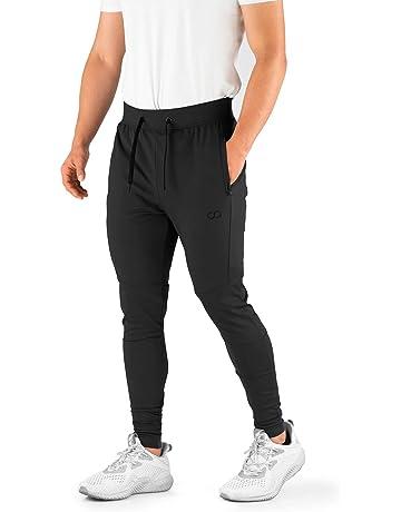 98bf62480b8a Contour Athletics Men s Joggers Elite (HydraFit) Track Pants Sports Workout  Sweatpants with Zipper and