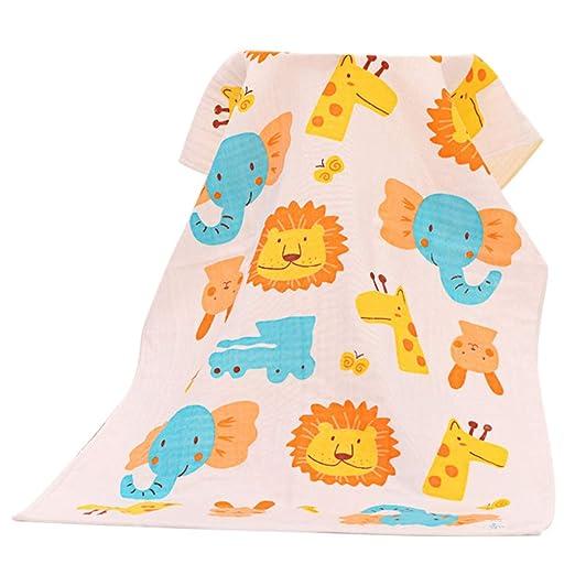 Bebé Toallas De Baño De Algodón De Gasa Impresos Recién Nacidos Toallas Manta Del Agua Suave