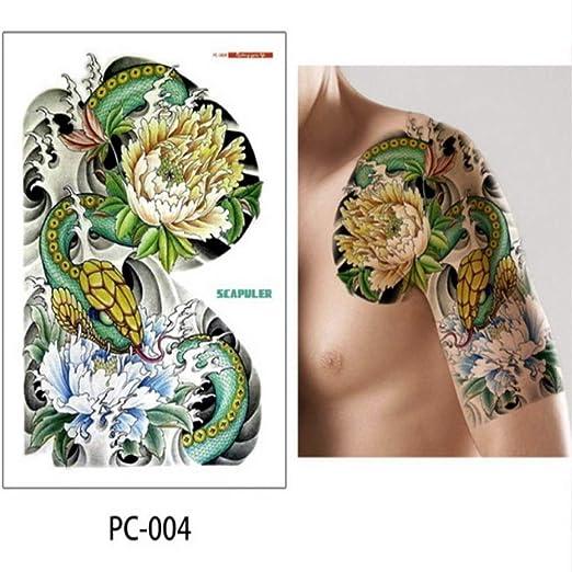 5 piezas tatuaje grande pecho brazo brazo hombro gran tatuaje ...