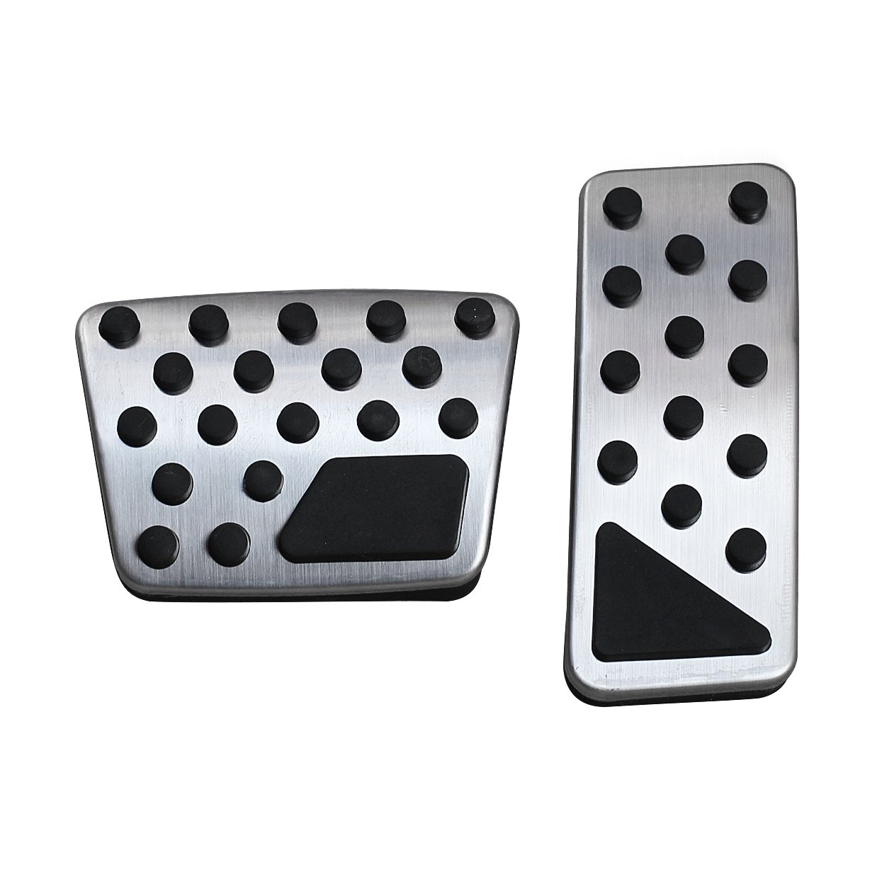 AutoBig Accelerator Brake Pedal Cover Jeep Cherokee KL 2014-2019 No Drill Stainless Steel Gas Pad Plate Cap