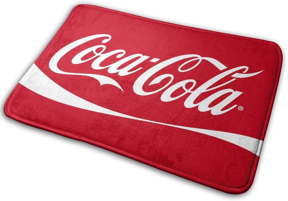 Amazon Com Coca Cola Bath Mat Non Slip Bathroom Mats Bathroom Rug Doormat Indoor Carpet Door Mat Floor Pads 15 7 X 23 5 Kitchen Dining