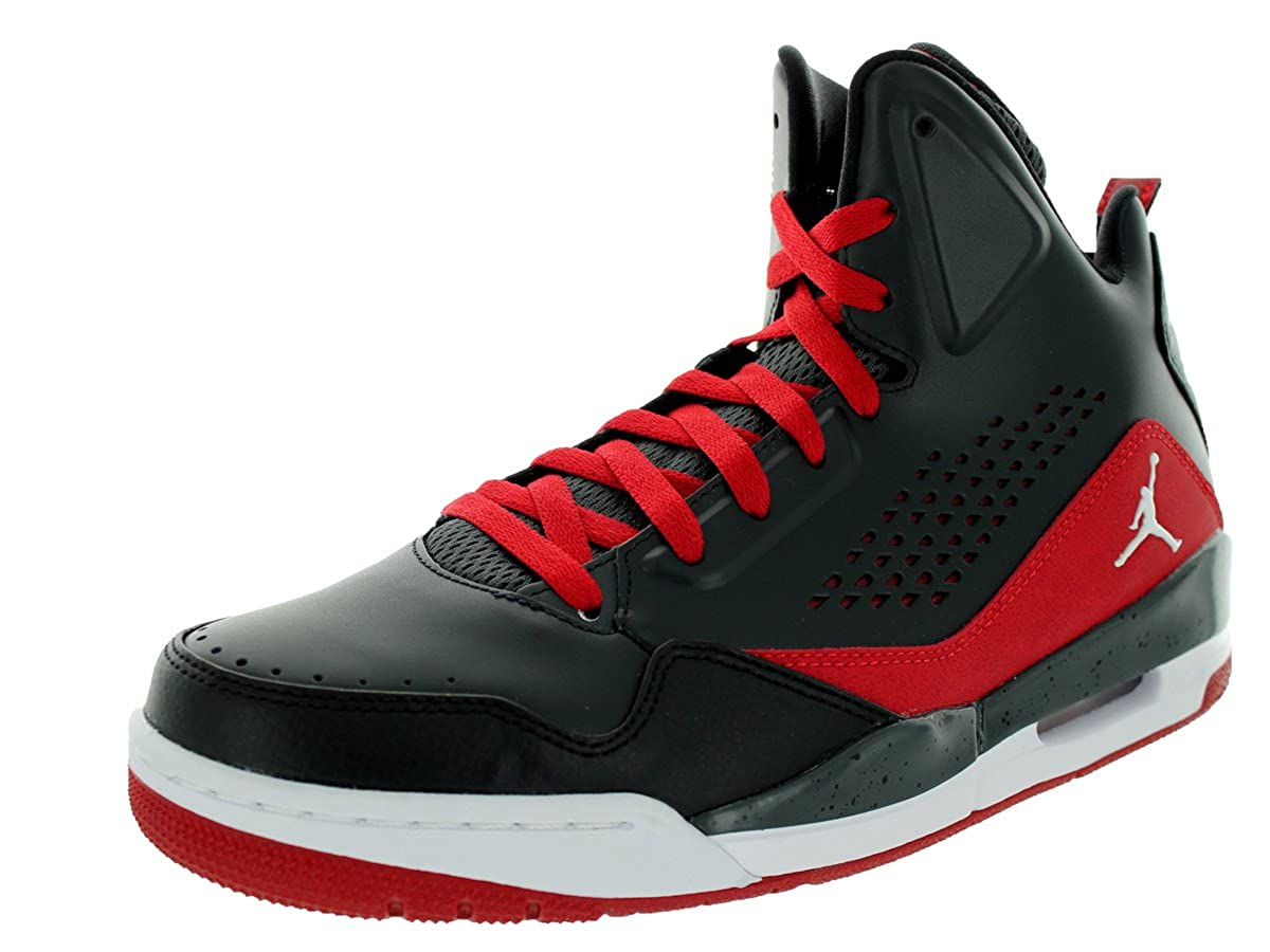 promo code dd25e 935a9 nike air jordan SC-3 mens hi top basketball trainers 629877 sneakers shoes  (uk 9 us 10 eu 44, anthracite white black gym red 012)  Amazon.co.uk  Shoes    ...
