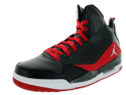 size 40 ab40d 754fb nike air jordan SC-3 mens hi top basketball trainers 629877 sneakers shoes ( uk 9 us 10 eu 44, anthracite white black gym red 012)  Amazon.co.uk  Shoes    ...