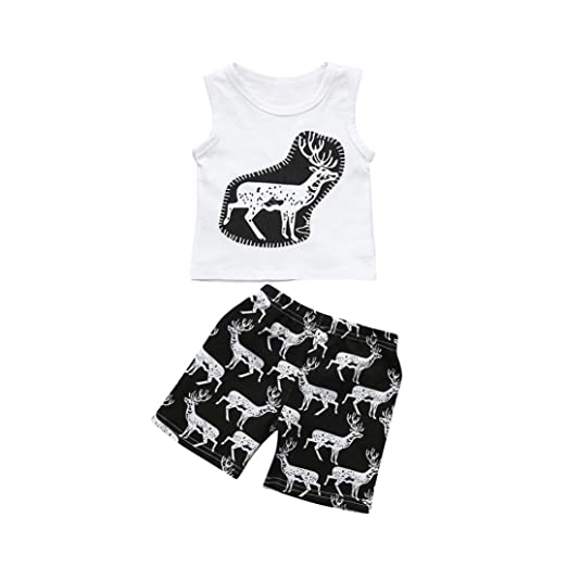 13bdf49e279cd Lavany Little Boys Girls Clothes Set 2pc Short Sleeve Bear Print Tops+Shorts  Outfits ...