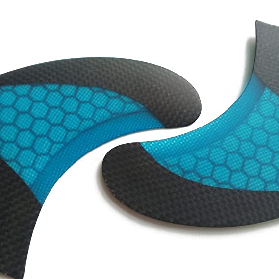 Amazon.com : UPSURF Surfboard Tri Fin FCS Fins Carbon G7 Size Fiberglass Thruster Set Fcs Fins (blue) : Sports & Outdoors